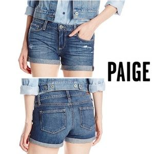 NWT Paige Jimmy shimmy Short Rolled/Distressed